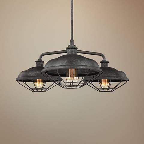 Feiss Lennex 31 1 2 W Gray Indoor Outdoor Chandelier