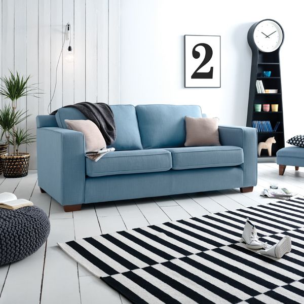 Rio 3 Seater Sofa Modern Sofa Living Room Blue Sofa Living Sofa Colors