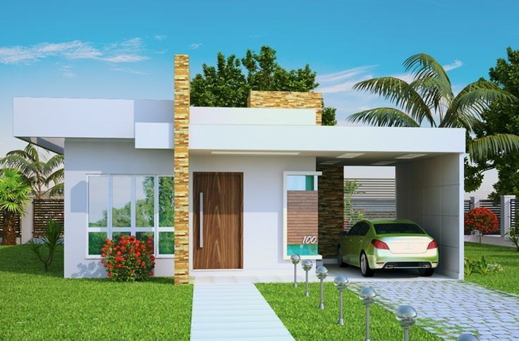 Fachada de Casas Minimalistas de una Planta que te ayudaran ah diseñar la mejor casa. Fotos de fachadas de casas minimalistas en una planta modernas. Entra!