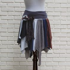 how to diy tutorial tattered fairy leather wrap skirt - Google Search