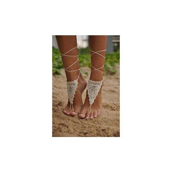 Пляжные Свадебные Босоножки via Polyvore