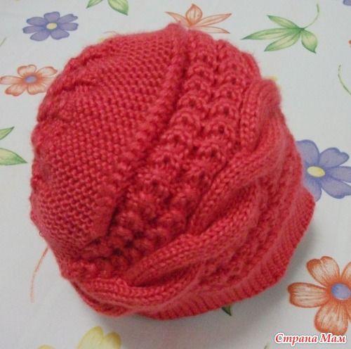 Девочки!!! Я обещала вязать в он- лайн эту шапочку:  http://www.stranamam.ru/  вот здесь она была.  Схема не вся, но связать можно... Я уже начала, буду идти впереди,