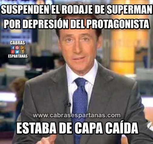 Superman suspende rodaje por depresión