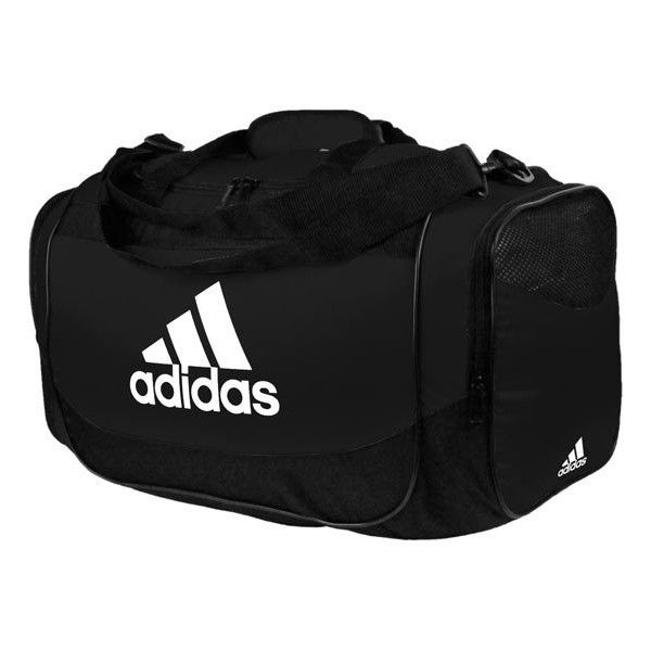 Adidas Defender Duffle Bag Large ($36) ❤ liked on Polyvore featuring bags, adidas, duffel bags, zipper bag, zipper duffle bag and duffle bag