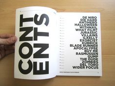 Image result for magazine table of contents design