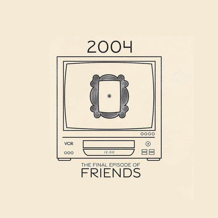 "This Day In History - May 6 - 2004 - 52 Million people tune in for the final episode of ""Friends."" I remember watching on an old TV/VCR combo. Anyone else have one of these? These were the height of technological home value for a recent college grad with student loan and rent payments! Did you watch it too?  ---  #thisdayinhistory #todayinhistory #tdih #history #onthisday #minimal #minimalism #simple #minimalist #texture #adobe #illustration #vector #365project #facts #friends #tv…"