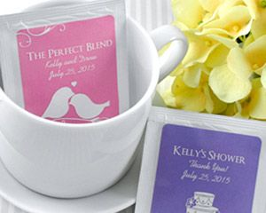 Add some southern charm to your event with these personalized iced tea party favors. These personalized packets come in a variety of designs and colors, as unique as your reunion, wedding, or party!