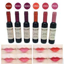 À Prova D' Água coreano Vinho Tinto Forma Lip Tint Bebê Rosa Lábio Para As Mulheres Batom Maquiagem Batom Líquido Lipgloss Cosméticos M02347 alishoppbrasil