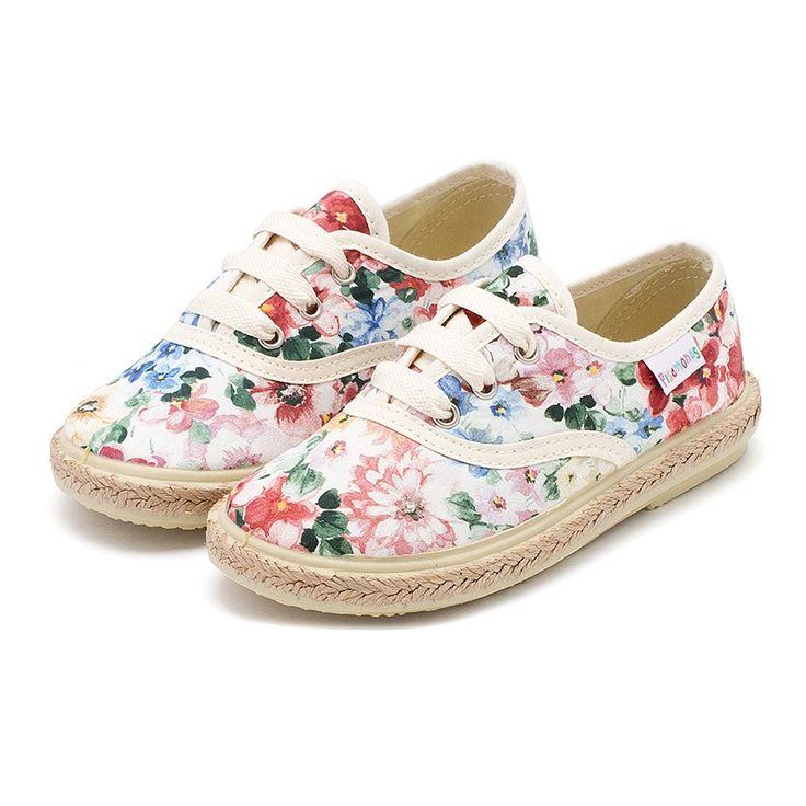 Zapatillas Flores Estampadas | Zapatillas de Lona Niña