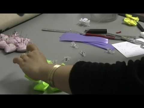 Laço de fita com duas camadas - YouTube