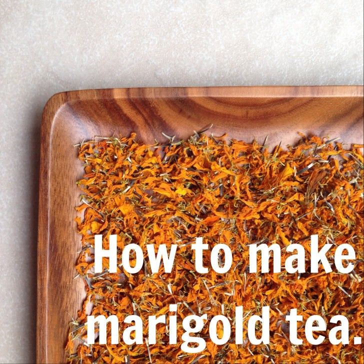 How to Make Marigold Tea.  Great for colicky babies, fevers and tummy aches.  #naturalremedies #herbalremedies #mamaandbabylove
