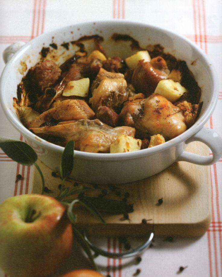 Κουνέλι ψητό με μήλα - Συνταγή  i-Food.gr by Giorgio Spanakis