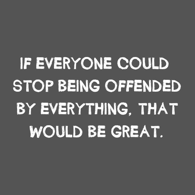 Everyone Offended Funny Political T SHIRT Hilarious Offensive Humor Novelty Tee #LimpinLarrysTshirts #GraphicTee