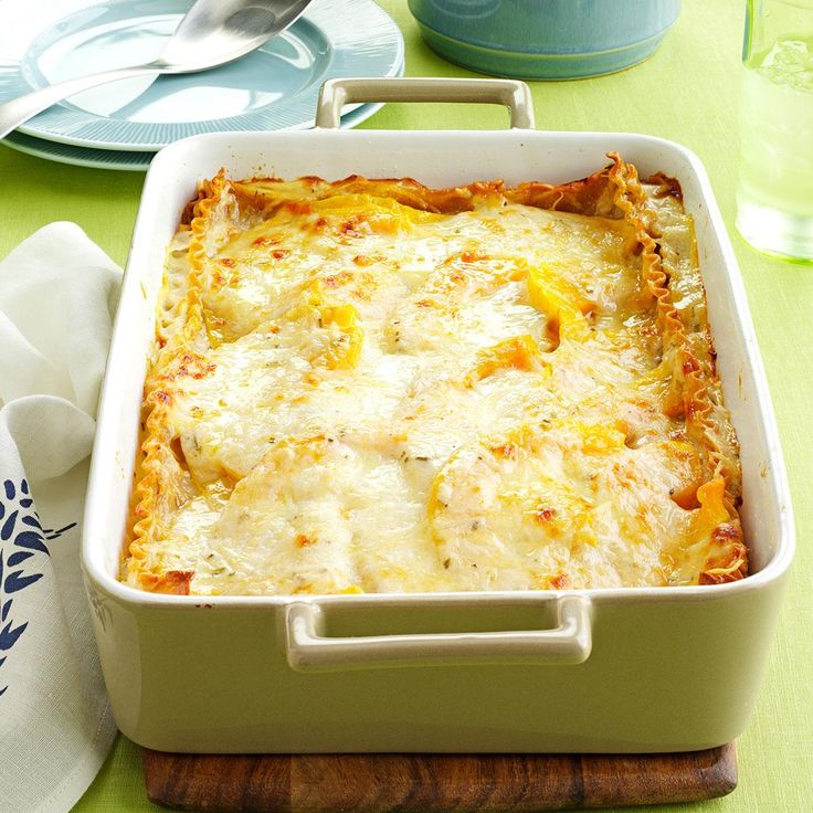 Rosemary Butternut Squash Lasagna Recipe -I came up with this recipe when our garden was brimming with butternut squash. This is now our favorite way to use it. —Christine Wood, Tipton, Iowa