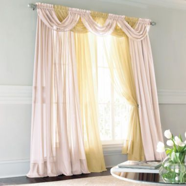 Jcp HomeTM Lisette Rod Pocket Sheer Panel Found At JCPenney Dining Room