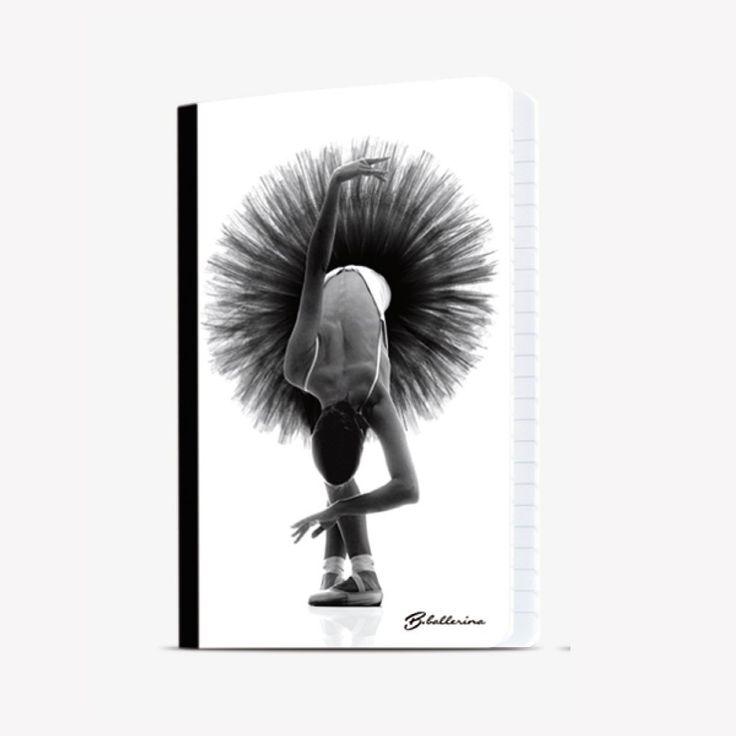 lined notebook black tutu - B-Balerina  http://www.noola.be/schrift-zwarte-tutu.html