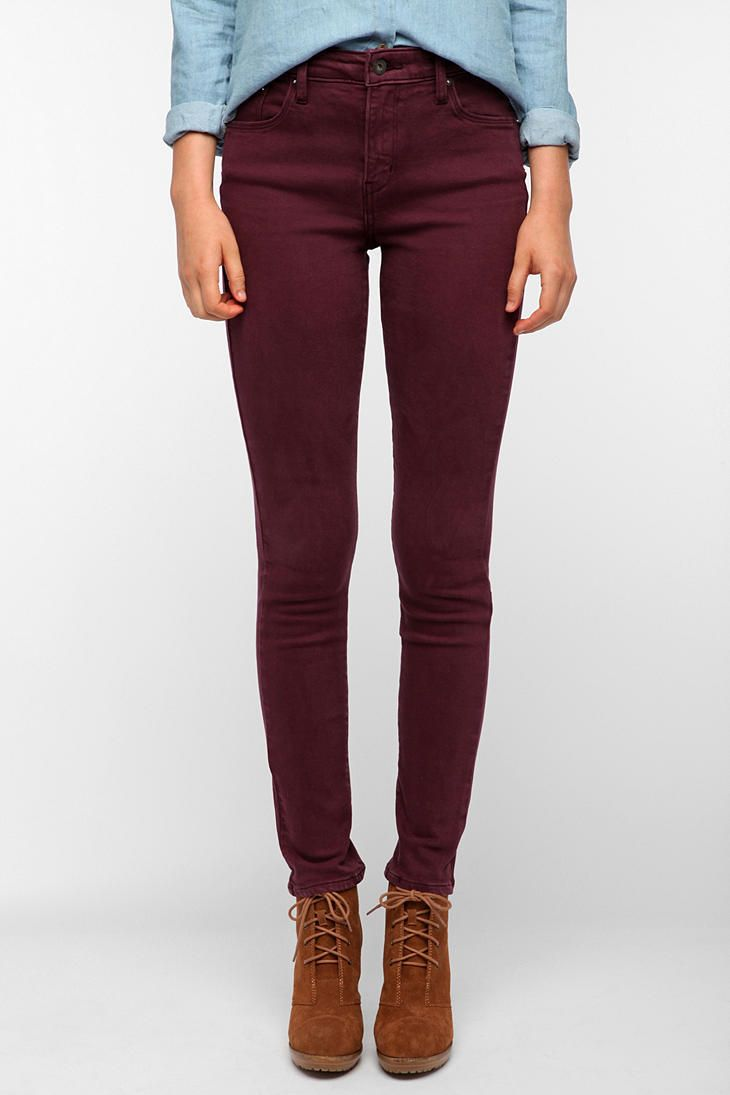 The Oxblood Jean: Levi's Demi Curve High-Rise Skinny Jean in Wine ($78)