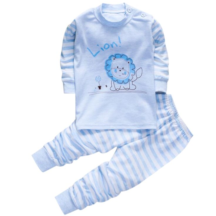 27.21$  Know more  - Baby Pajamas for boys girls t shirt homewear 1 2 3 years Children's pajamas home suit pj costumes set baby clothing for boys 18M
