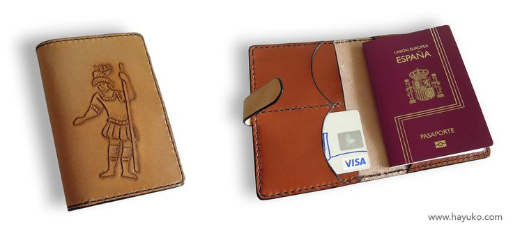 Funda para pasaporte personalizada, realizada en vaquetilla. Passport cover personalized, made of cowhide.