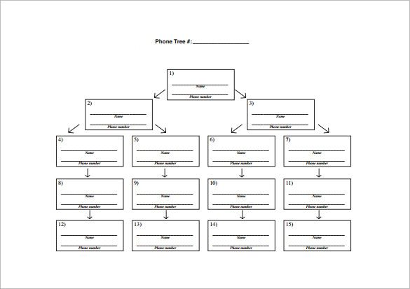 11 Printable Phone Tree Templates Doc Excel Pdf