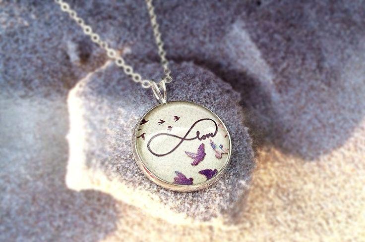 """925 silber Halskette  """"Infinity Love"""" von *~ SCHMUCKPHANTASIEN~* auf DaWanda.com"""
