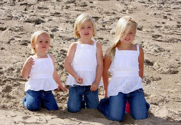 Princesses Alexia, Ariane and Amalia, daughters of Crown Prince Willem-Alexander and Crown Princess Maxima of the Netherlands