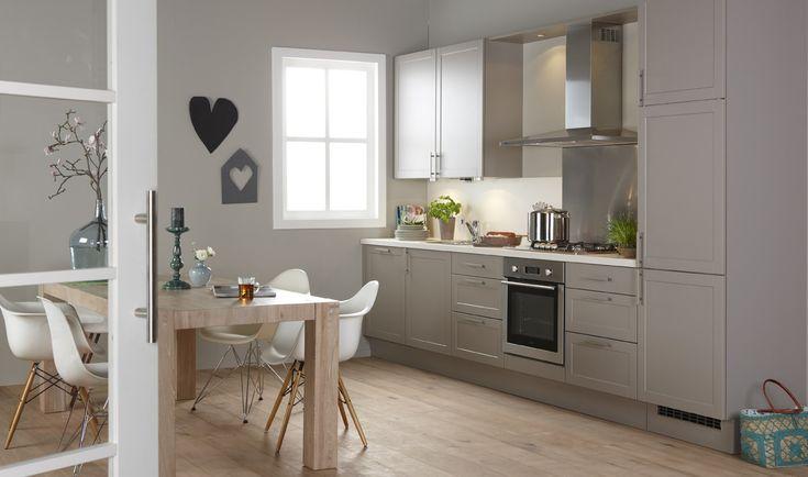 Witte Bruynzeel Keuken : Bruynzeel Romance keuken in het leem Keuken ...
