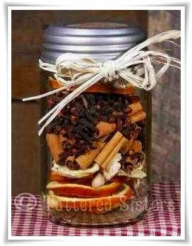 Ginger Citrus Simmering SpicesOrange Slices, Gingers Citrus, Gift Ideas, Diy Gift, Simmer Spices, Citrus Simmer, Mason Jars, Neighbor Gift, Hostess Gift