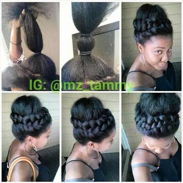 Remarkable 1000 Images About Updo Hairstyles Using Braiding Hair On Short Hairstyles For Black Women Fulllsitofus