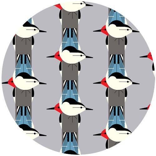 Charley Harper for Birch Fabrics Organic, CANVAS, Upside Downside