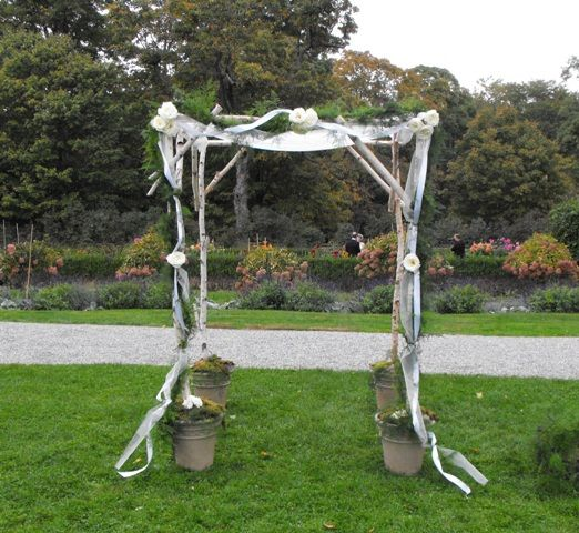 Chuppah in Garden Setting