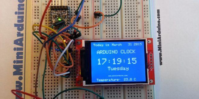 Arduino Tft Rtc I2c Digital Clock Ds3231 With Temperature Diy Con