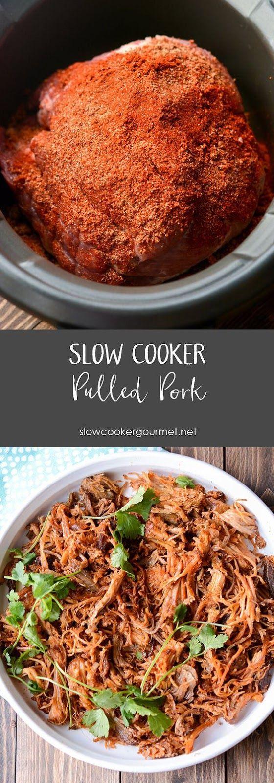 The Best Slow Cooker Pulled Pork #slowcookerrecipes #pulledpork