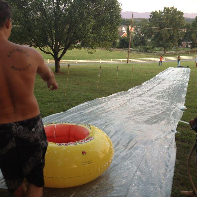 Fun times on the giant Slip-n-slide