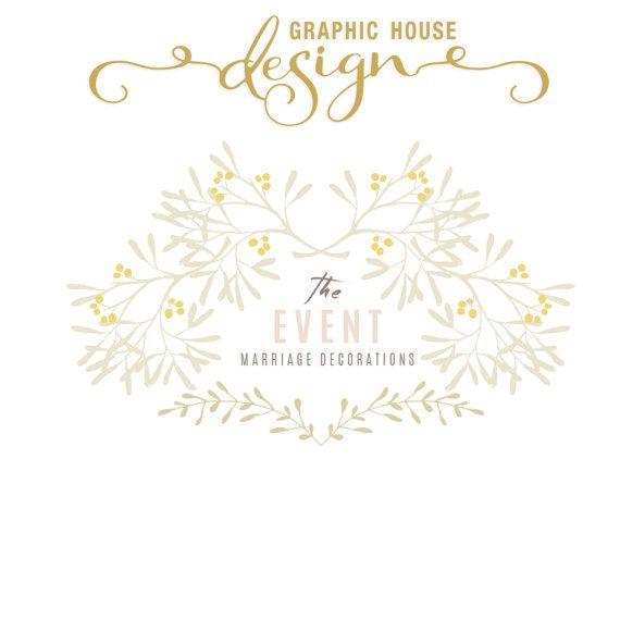 Wedding  Premade Customizable Logo/Logo by GraphicHouseDesign
