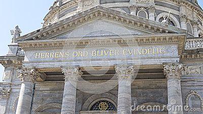 Church in Copenhagen city, summertime, Denmark.