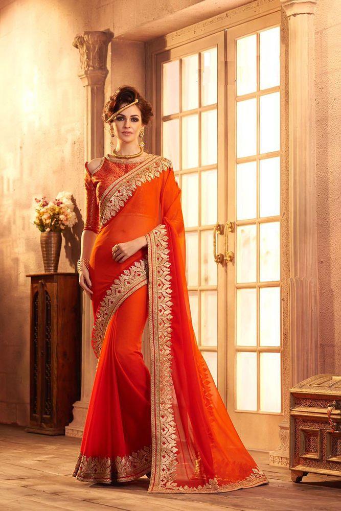 Bollywood Sari Boda India Georgette de Diseñador Fiesta Nupcial Sari de mujer US6319 | Ropa, calzado y accesorios, Ropa típica y étnica, India y Paquistán | eBay!