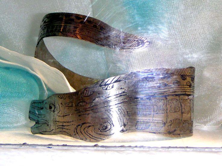 """""""Murena"""" - bracciale - incisioni da indossare www.ilgiardinodellacerorosso.com"""