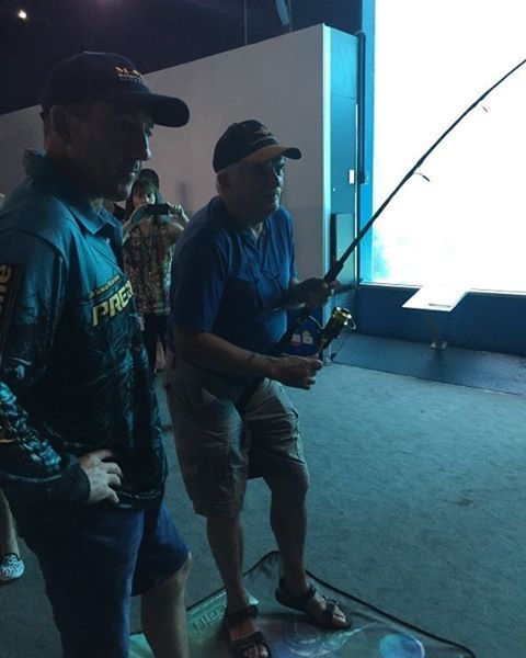 https://www.instagram.com/p/BDrmkP2C294/?taken-by=akwaprotackle Even the young at heart are coming down to REEF HQ AQUARIUM and having a go at the fish simulator. Come down and join us we're here till Thursday 7th, 10am to 2pm daily. Don't forget to grab your FREE PRIZE DRAW TICKET, thanks to our sponsors Quickcatch Lures, Shimano and Stingray Sunglasses. #reefhqaquarium #hodgie #townsvilleshines #townsville #quickcatchlures #shimano #stingraysunglasses