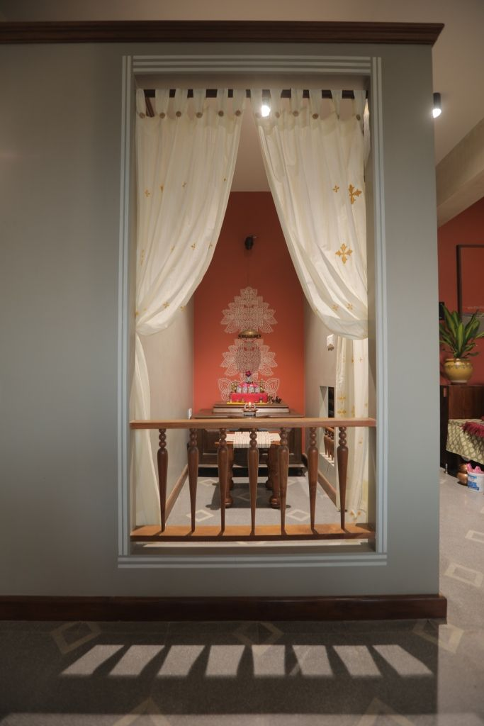Ghar Residence For An Artist Aangan Architects Pooja Room