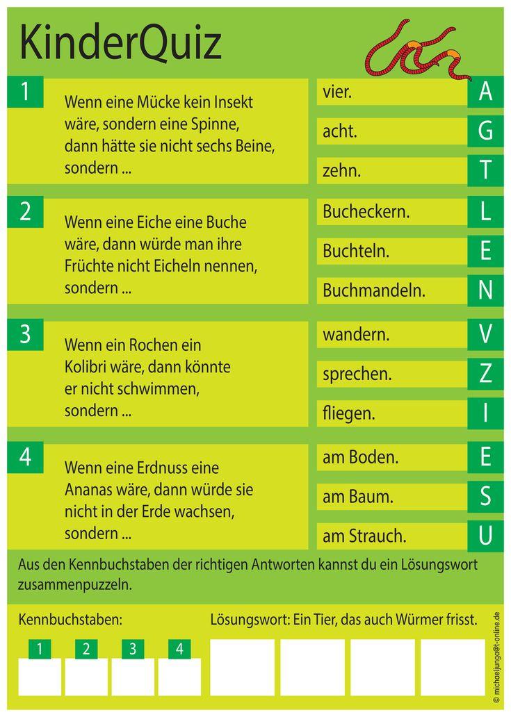 kinderrätsel quiz ii  unterrichtsmaterial in den fächern