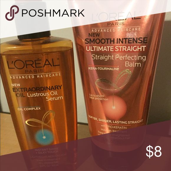 Loreal advanced hair care serum and balm duo Serum to add shine and reduce frizz and balms used before you blow dry to help straighten and smooth the hair L'Oreal Other