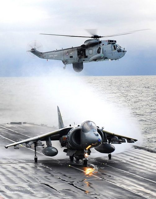 Harriers Leave HMS Ark Royal For Final Time by Defence Images, via Flickr