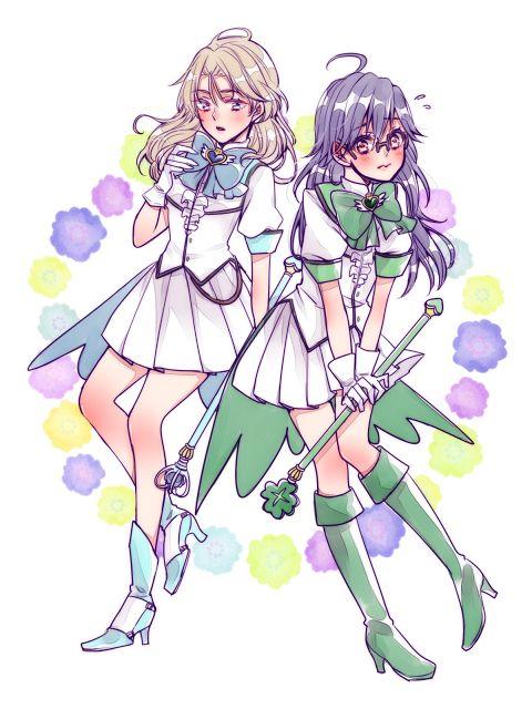 Binan Koukou Chikyuu Bouei-bu Love - Genderbend En & Atsushi by きの on pixiv (id 52729225)