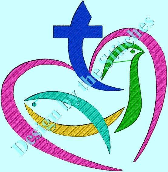 Trinity Father Son Holy Spirit  Religious by DesignByTheStitches, $2.99