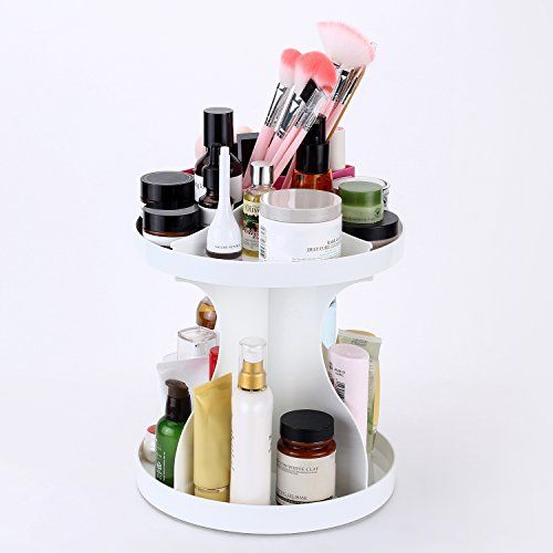 Lifeeasy 360 Degree Rotating Acrylic Makeup Organizer White *** Want to know more, click on the image.