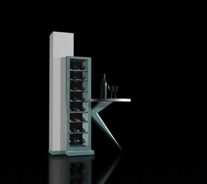 Mini #wine #bar design concept by #murraykuun for #furnituredesignlab.vo.zs