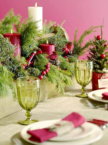 clothes shopping online sites More Festive Ideas Love the greens with candles and the small Christmas tree