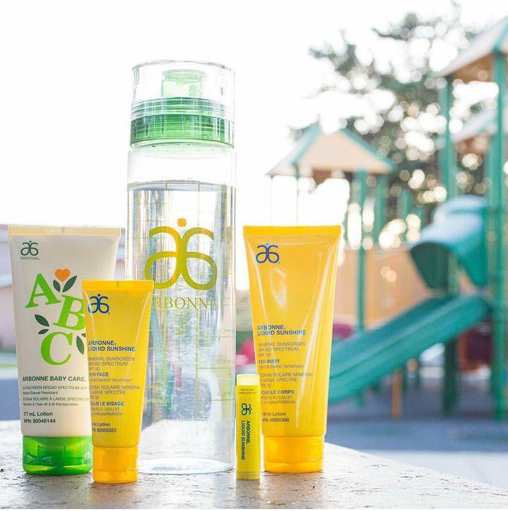 Les crèmes solaires Arbonne: purs, sûres et bénéfiques! Bon été à tous!