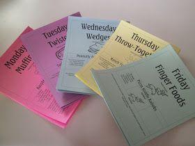 RobbyGurl's Creations: School Lunch Menu Board
